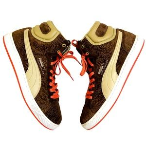 Puma First Round EX Suede High Top Sneakers